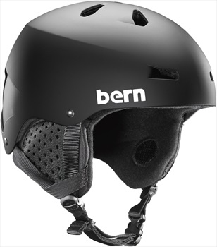 Bern Macon EPS Winter Snowboard Helmet, Matte Black L