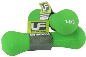 Urban Fitness Equipment Neoprene Dumbbells/Weights, 1.5KG Green