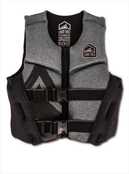 Liquid Force Ruckus Kids CGA Buoyancy Vest, Youth Large Blck Grey 2019