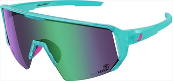 Melon Adult Unisex Alleycat Violet Chrome Performace Sunglasses, M/L Turquoise/ Pink