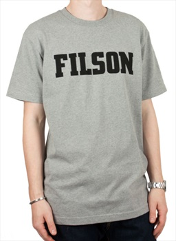 Filson Outfitter Graphic Short Sleeve Cotton T-Shirt, S Grey Heather