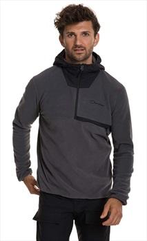 Berghaus Aslam Hooded Pullover Fleece Jacket, M Grey Pinstripe/Black