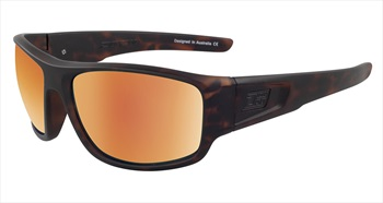 Dirty Dog Muffler Brown/Gold Polarized Sunglasses, Satin Tort Frame