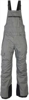 686 Hot Lap Insulated Bib Ski/Snowboard Pants, L Grey Melange