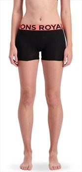 Mons Royale Hannah Hot Pants Women's Merino Underwear, M Black/Coral