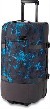 Dakine Split Roller EQ Wheelie Bag Suitcase, 75L Cyan Scribble