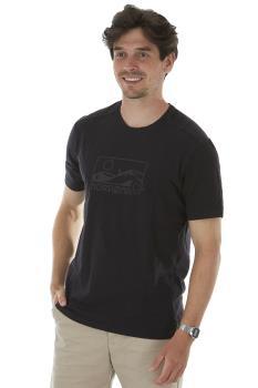 Norrona Adult Unisex /29 Touring Short Sleeve Logo T-Shirt, Xl Caviar Black