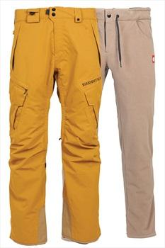 686 Smarty Cargo 3-In-1 Ski/Snowboard Pants, L Golden Brown