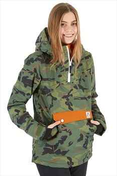 Wearcolour Homage Anorak Women's Snowboard/Ski Jacket L Dark Forest