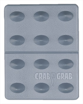 Crab Grab Mini Shark Teeth Snowboard Stomp Pad, Clear