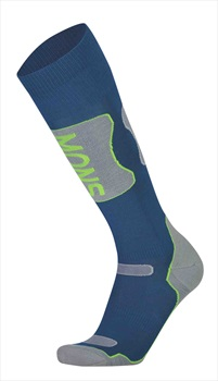Mons Royale Pro Lite Tech Ski/Snowboard Socks S Oily Blue/Grey/Citrus