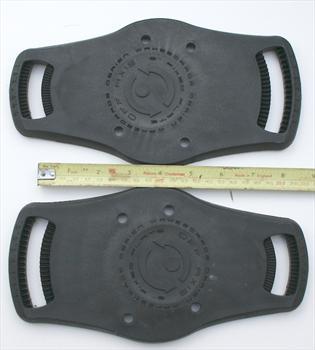 "O'Brien Wakeboard Binding Plate, Off Axis 6"", Black"