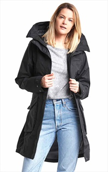Didriksons Thelma Women's Waterproof Parka Jacket, UK 12 Black