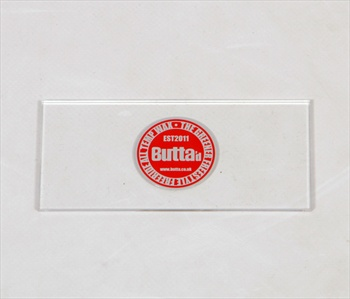 Butta Clear Plastic Snowboard Wax Scraper, Small Clear