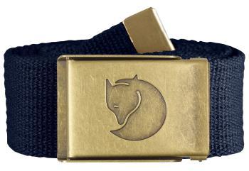 Fjallraven Canvas Brass 4cm Belt, One Size Dark Navy