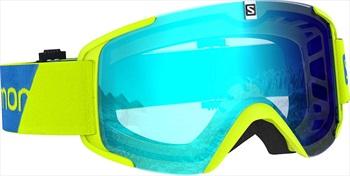 Salomon XView Solar Blue Snowboard/Ski Goggles, M/L Neon Yellow