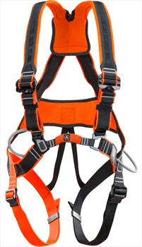 Climbing Technology Work Tec Full Body Climbing Harness, S-M Orange