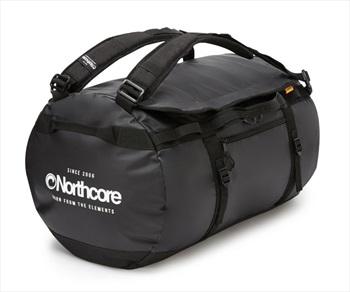 Northcore Adventurer 40L Duffel Travel Bag, 40L Black/White