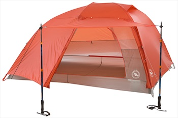 Big Agnes Copper Spur HV UL3 Ultralight Backpacking Tent, 3 Man Orange