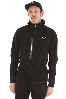 Salewa Agner Durastretch Dry Men's Hooded Jacket, M Black Out