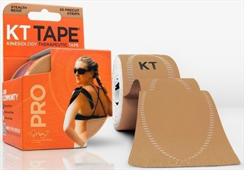 """KT Tape Synthetic Pro Precut Kinesiology Tape, 10"""" X 2"""" Stealth Beige"""