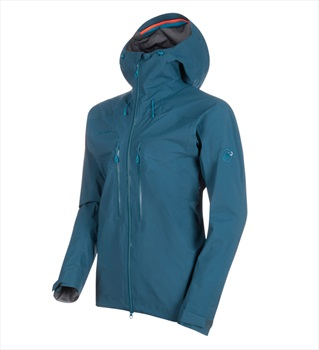 Mammut Meron HS Hooded Jacket Men's Gore-Tex Pro Shell, S Wing Teal
