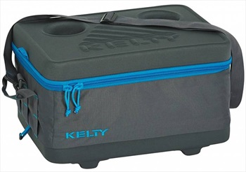 Kelty Folding Cooler Compact Cool Box, 17L Grey