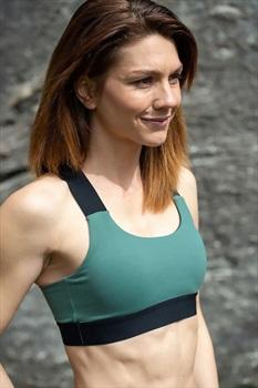 8b+ Womens Epic X-strap Sports Bra S Khaki