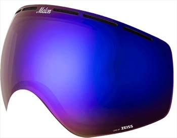 Melon Chief Ski/Snowboard Goggle Lens, One Size Blue Chrome