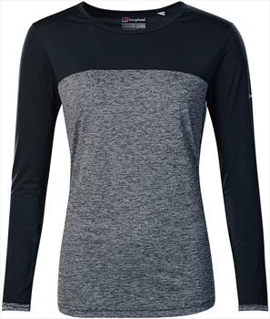 Berghaus Voyager Tech Women's Long Sleeve T-Shirt, L Carbon Marl