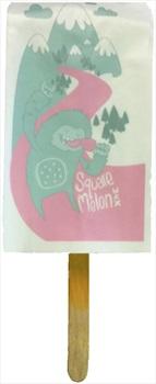 Square Melon Wax Lolly, Melon Flavour Ski & Snowboard Wax