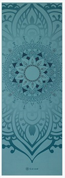 Gaiam Premium Printed Yoga/Pilates Mat, 6mm Niagra
