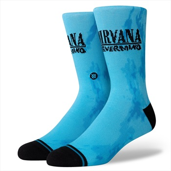 Stance Adult Unisex Nirvana Nevermind Crew Skate Socks, L Blue/Black