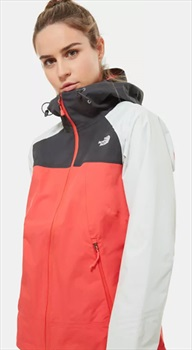The North Face Stratos Women's Waterproof Jacket, S Cayenne Red/Grey
