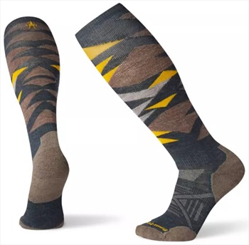 Smartwool PHD Ski Light Pattern Ski Socks, M Everglade