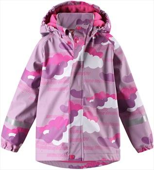 Reima Koski Fleece Lined Jacket Kid's Waterproof Raincoat, Age 5 Pink