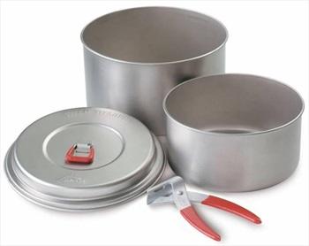 MSR Titan 2-Pot Set Ultralight Titanium Cookware, 2L Silver