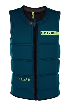 Mystic Star Wakeboard Impact Vest, Large Teal 2019