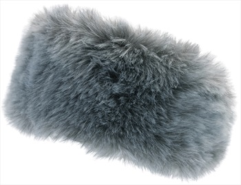 Manbi Women's Alicia Faux Fur Microfleece Headband, OS Timber Wolf