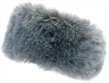 Manbi Women's Alicia Faux Fur Microfleece Headband, OS Silver Fox