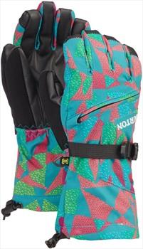 Burton Youth Vent Ski/Snowboard Gloves, M Green/Blue Morse Geo