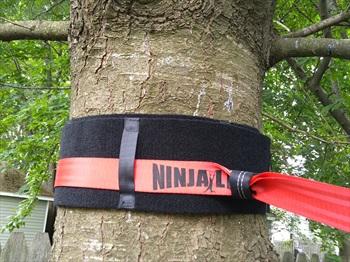 Slackers Tree Protection Slackline Accessory, 240 X 15 Cm Black