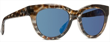 Von Zipper Queenie Blue Chrome Lens Sunglasses, Quartz Tortoise Gloss