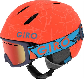 Giro Launch Combo Kids Ski/Snowboard Helmet, XS Vermillion Rock