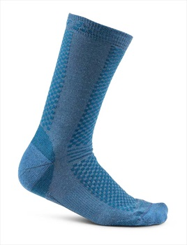 Craft Adult Unisex Warm 2 Pack Running Socks, UK 12-14 Burst/Blaze