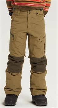 Burton Boys Exile Cargo Snowboard Pants, L Martini Olive