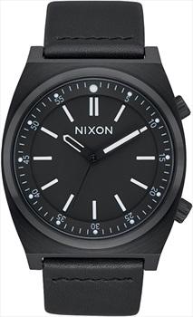 Nixon Brigade Leather Men's Wrist Watch, All Black