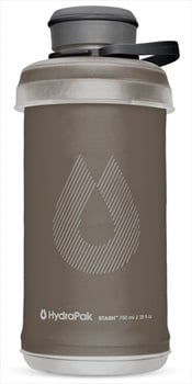 HydraPak Stash Bottle Collapsible Water Bottle, 750ml Mammoth Grey