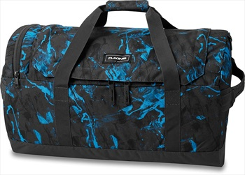 Dakine EQ Duffle Travel Luggage Bag, 50L Cyan Scribble