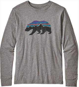 Patagonia Boys Graphic Organic Long-Sleeved T-Shirt Age 5-6 Gravel